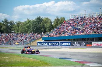 Buemi in actie tijdens de Gamma Racing Day 2014