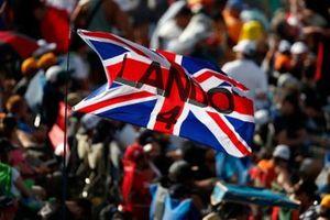 Crowd support for Lando Norris, McLaren