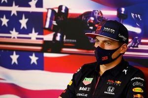 Max Verstappen, Red Bull Racing in the drivers press conference
