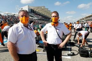 Zak Brown, CEO, McLaren Racing, and Andreas Seidl, Team Principal, McLaren, on the grid