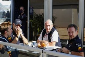 Adrian Newey, Chief Technical Officer, Red Bull Racing, Helmut Marko, Consultant, Red Bull Racing, Christian Horner, Team Principal, Red Bull Racing
