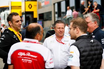 Cyril Abiteboul, Managing Director, Renault F1 Team, Frederic Vasseur, Team Principal, Alfa Romeo Racing, Zak Brown, Direttore Esecutivo, McLaren, Andreas Seidl, Team Principal, McLaren e Otmar Szafnauer, Team Principal e CEO, Racing Point