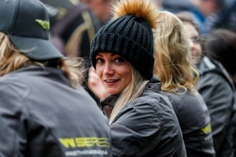 Jessica Hawkins at the drivers autograph session