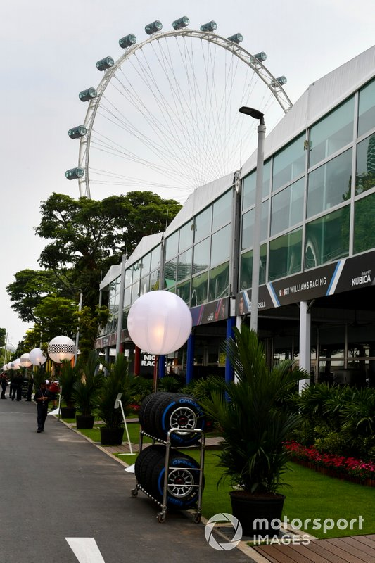 Singapore Flyer view from the paddock