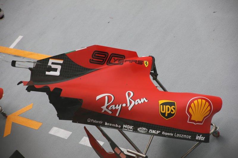 Cubierta motor del Ferrari SF90