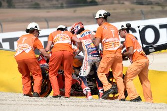 Marc Marquez, Repsol Honda Team crashes