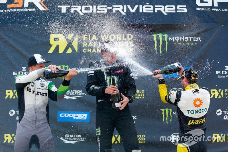 Podium: Winner Andreas Bakkerud, Monster Energy RX Cartel, second place Janis Baumanis, STARD, third place Timur Timerzyanov, GRX Taneco