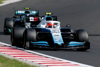 Robert Kubica, Williams FW42, leads Valtteri Bottas, Mercedes AMG W10