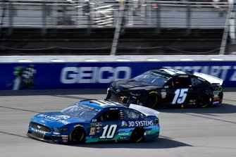 Aric Almirola, Stewart-Haas Racing, Ford Mustang 3D Systems and Ross Chastain, Premium Motorsports, Chevrolet Camaro