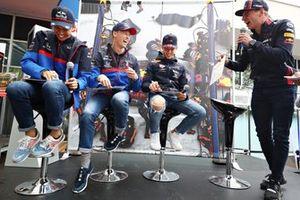 Alexander Albon, Toro Rosso, Daniil Kvyat, Toro Rosso, Pierre Gasly, Red Bull Racing, Max Verstappen, Red Bull Racing