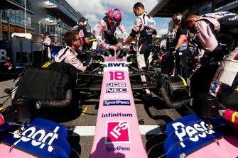 Lance Stroll, Racing Point, op de grid
