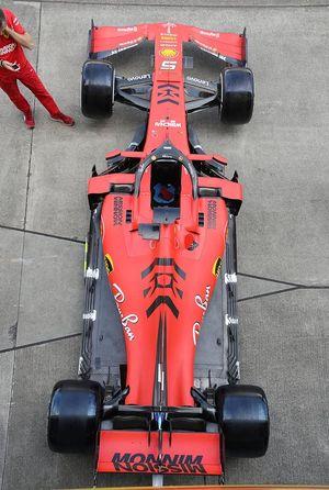 El coche de Sebastian Vettel, Ferrari SF90