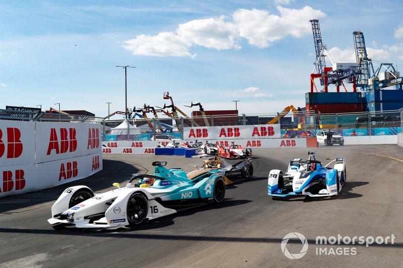 Oliver Turvey, NIO Formula E, NIO Sport 004 Antonio Felix da Costa, BMW I Andretti Motorsports, BMW iFE.18, Andre Lotterer, DS TECHEETAH, DS E-Tense FE19