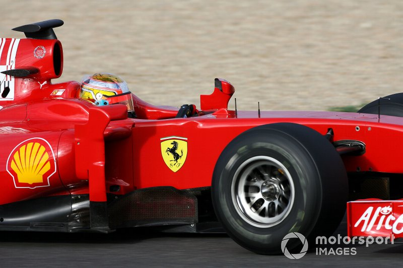 First F1 test with Ferrari