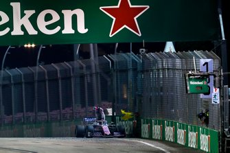 Sergio Perez, Racing Point RP19 abandonne