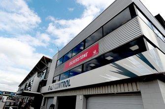 Silverstone gebouw van de wedstrijdleiding