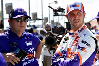 Denny Hamlin, Joe Gibbs Racing, Toyota Camry FedEx Ground and Christopher Gabehart
