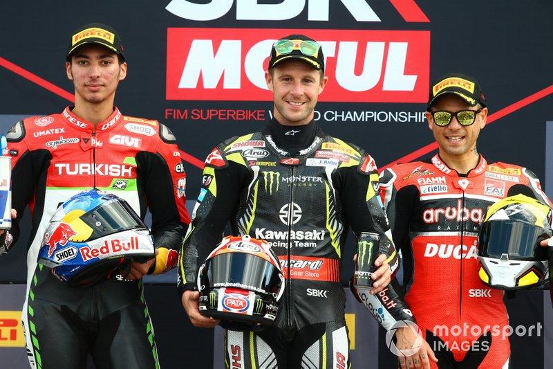 Toprak Razgatlioglu, Turkish Puccetti Racing, Jonathan Rea, Kawasaki Racing Team, Alvaro Bautista, Aruba.it Racing-Ducati Team
