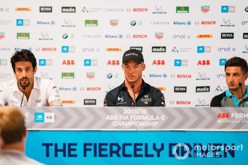 Lucas Di Grassi, Audi Sport ABT Schaeffler,Andre Lotterer, DS TECHEETAH, Mitch Evans, Panasonic Jaguar Racing in the press conference