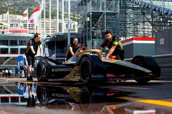 Jean-Eric Vergne, DS TECHEETAH, DS E-Tense FE19, being pushed down the pit line