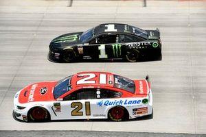 Paul Menard, Wood Brothers Racing, Ford Mustang Motorcraft / Quick Lane Tire & Auto Center, Kurt Busch, Chip Ganassi Racing, Chevrolet Camaro Monster Energy