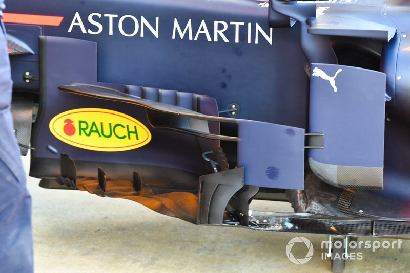 Technical detail of a Red Bull Racing RB15