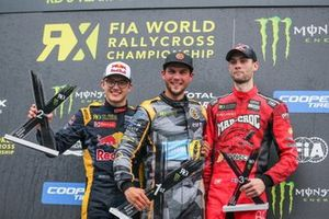 Podium: Winner Anton Marklund, GC Competition, second place Kevin Hansen, Team Hansen MJP, Niclas Grönholm, GRX Taneco