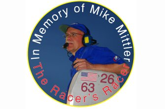 Tribute decal to MB Motorsports founder Mike Mittler