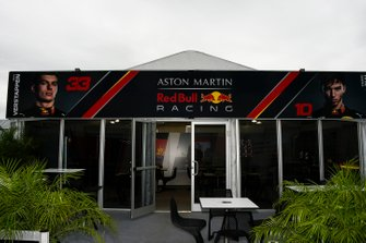 The Red Bull Racing team's hospitality area