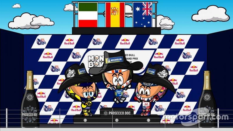 El podio del GP de las Américas de MotoGP 2019, por MiniBikers