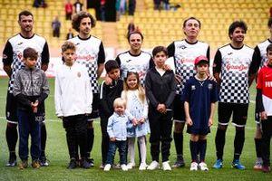 Felipe Massa and Carlos Sainz Jr. play football