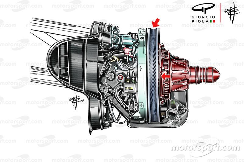 Ferrari SF90 front brakes, Austrian GP