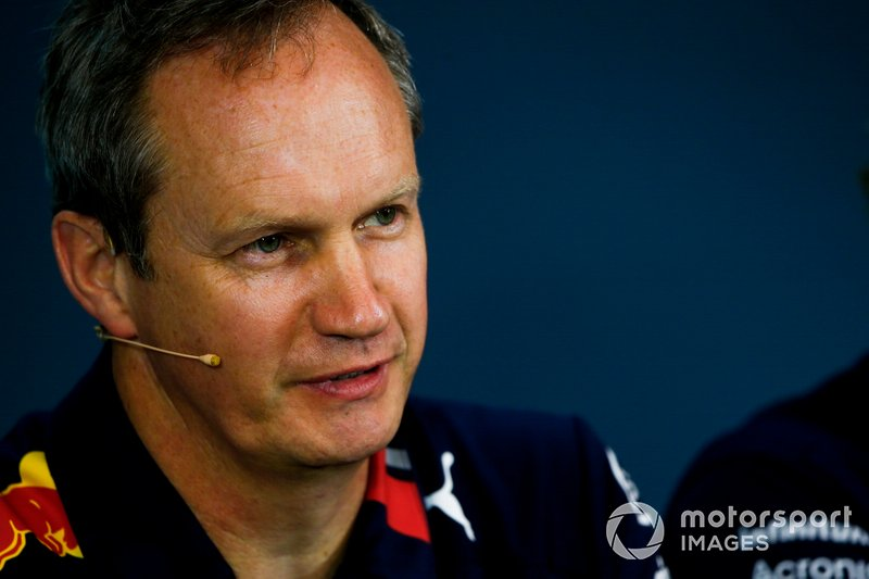 Paul Monaghan, Chief Engineer, Red Bull Racing, in the team principals Press Conference