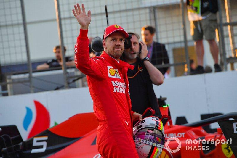 Sebastian Vettel, Ferrari, dopo le Qualifiche