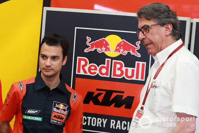 Dani Pedrosa, Red Bull KTM Factory Racing piloto de pruebas, Stefan Pierer, CEO KTM Group
