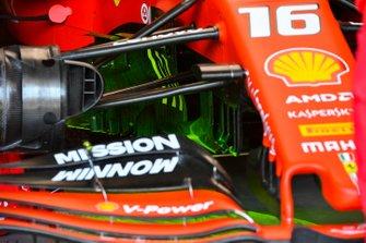 Flow viz paint on the car of Charles Leclerc, Ferrari SF90