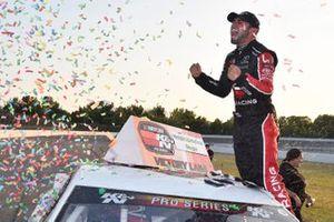 #4 Chase Cabre, Max Siegel, Toyota Camry, Honda Generators / Eibach celebrates his win