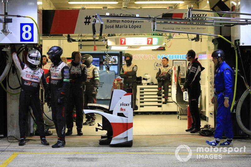 El box de Toyota Gazoo Racing