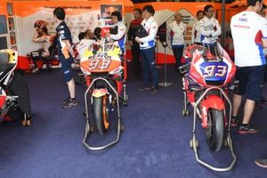 HRC Honda Team carbon-fiber chassis and Repsol Honda Team of Marc Marquez