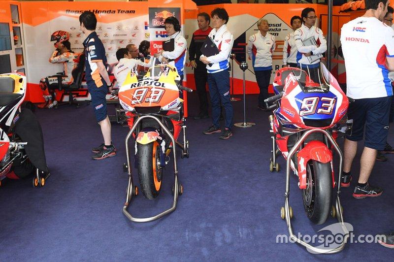 Il telaio in carbonio del Team HRC Honda e la Repsol Honda di Marc Marquez