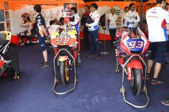 HRC Honda Team carbon-fiber chassis and Repsol Honda Team of Marc Marquez