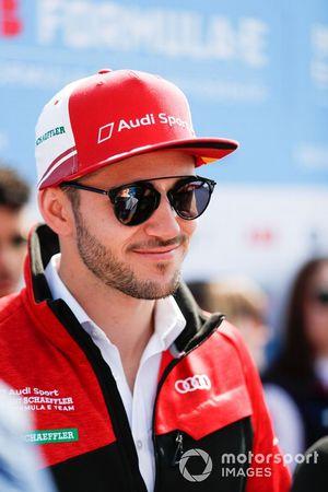 Daniel Abt, Audi Sport ABT Schaeffler, talks to the press