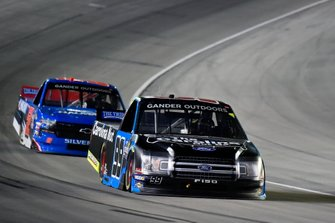 Ben Rhodes, ThorSport Racing, Ford F-150 and Stewart Friesen, Halmar Friesen Racing, Chevrolet Silverado Halmar International