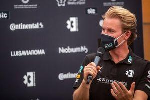 Нико Росберг, основатель и генеральный директор, Rosberg X Racing, на пресс-конференции