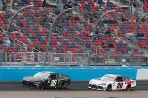 Riley Herbst, Stewart-Haas Racing, Ford Mustang Monster Energy, Harrison Burton, Joe Gibbs Racing, Toyota Supra DEX Imaging