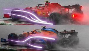 Comparación: Ferrari SF1000 vs. McLaren MCL35