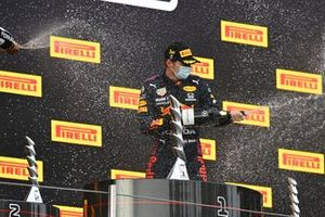 Max Verstappen, Red Bull Racing celebrates winning the