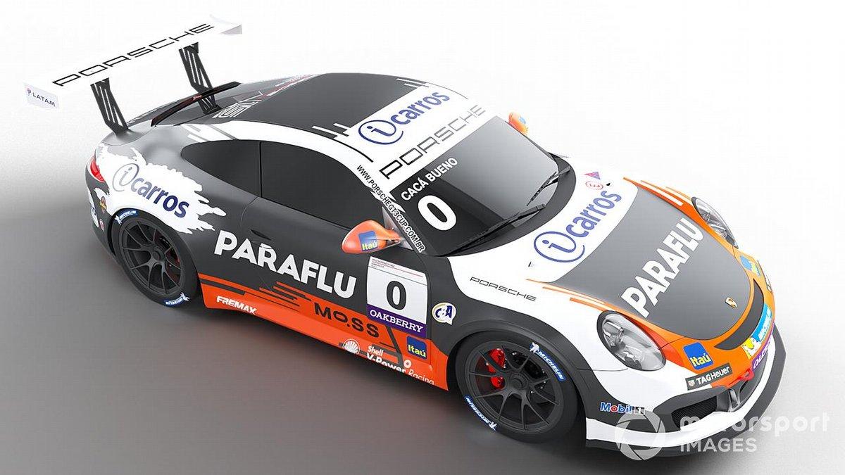 Layout do carro de Cacá Bueno e Marcelo Franco em 2021 no Porsche Endurance