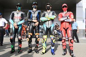 Luca Marini, Esponsorama Racing, Valentino Rossi, Petronas Yamaha SRT, Franco Morbidelli, Petronas Yamaha SRT, Francesco Bagnaia, Ducati Team
