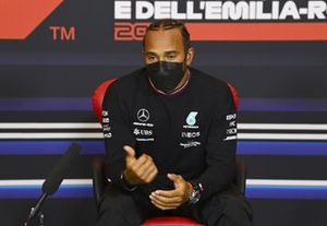 Pole starter Lewis Hamilton, Mercedes, in the post Qualifying Press Conference